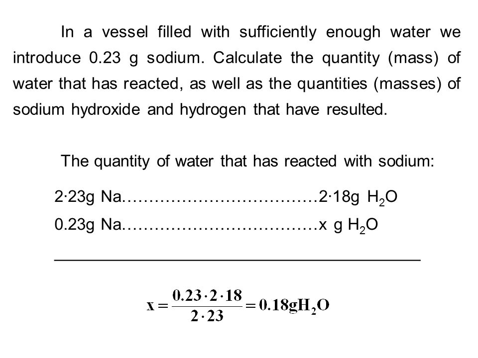 In a vessel filled with sufficiently enough water we introduce 0