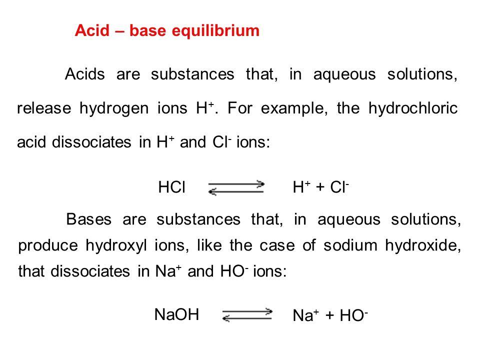 Acid – base equilibrium