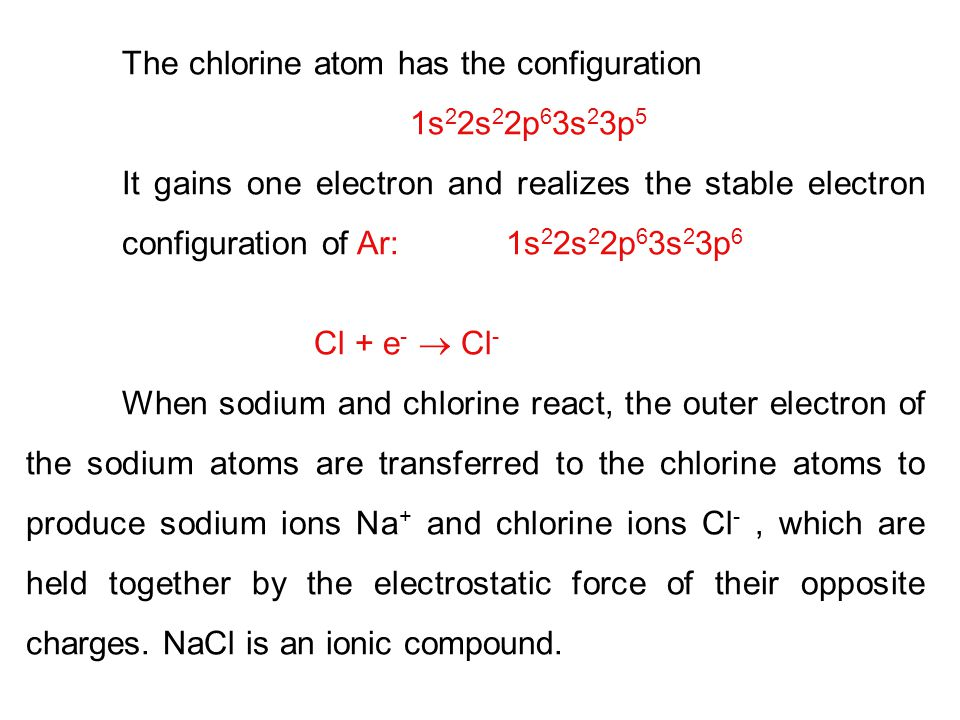 The chlorine atom has the configuration