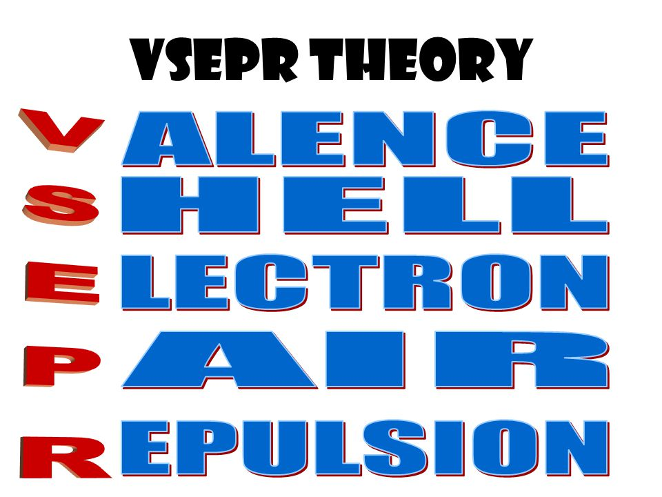 VSepR tHEORY ALENCE HELL VSEPR LECTRON AIR EPULSION