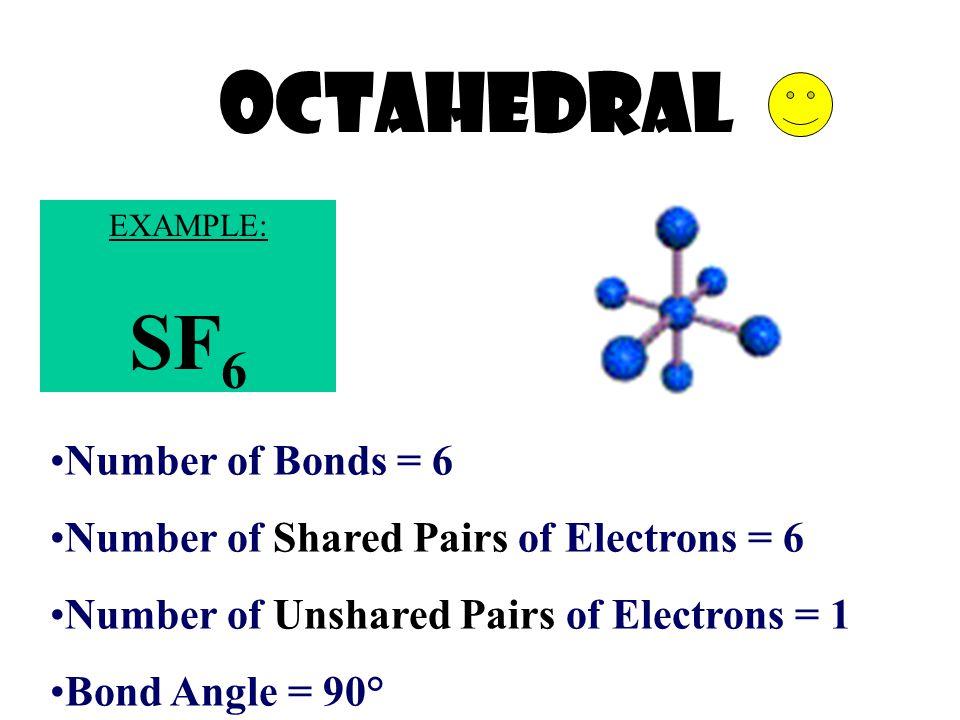 OCTAHEDRAL SF6 Number of Bonds = 6