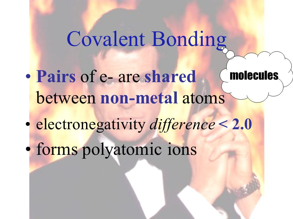 Covalent Bonding Pairs of e- are shared between non-metal atoms