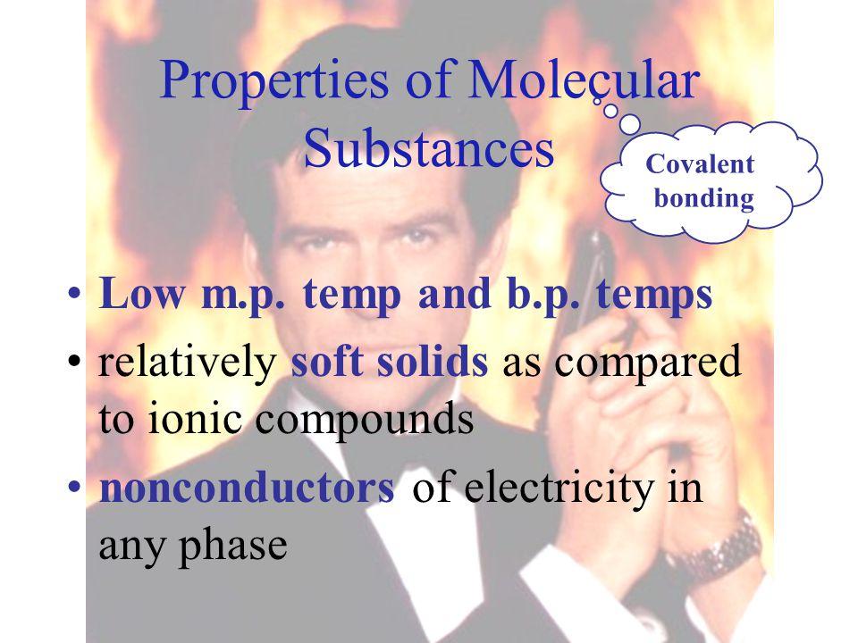 Properties of Molecular Substances