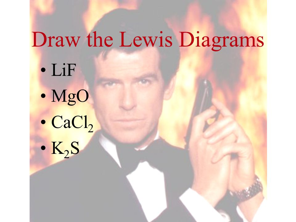Draw the Lewis Diagrams