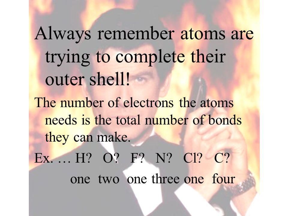 Always remember atoms are trying to complete their outer shell!