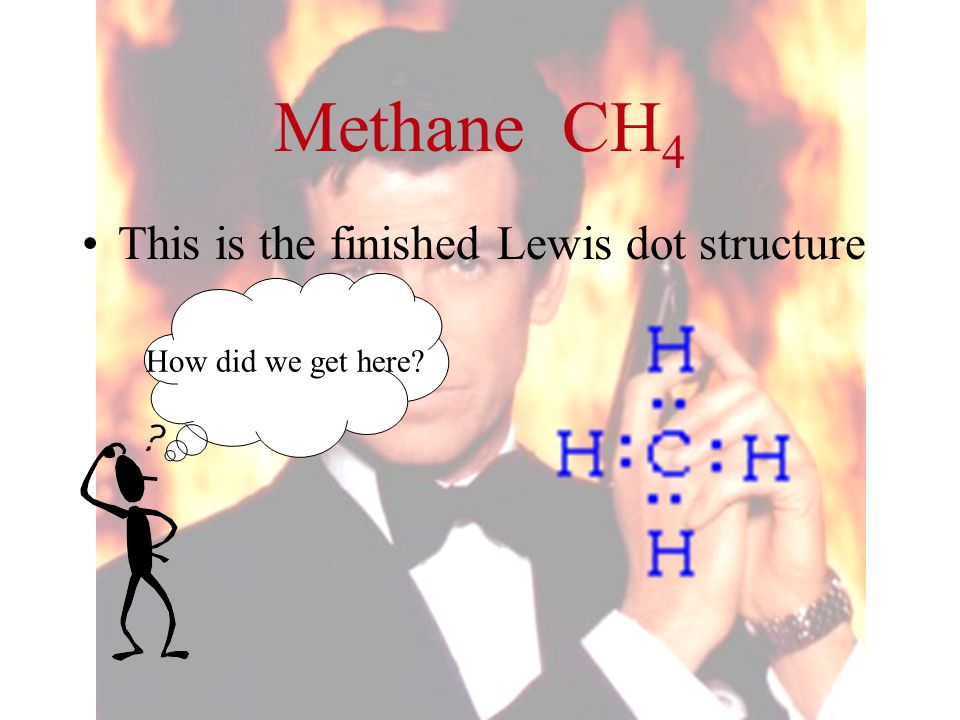 Methane CH4 This is the finished Lewis dot structure
