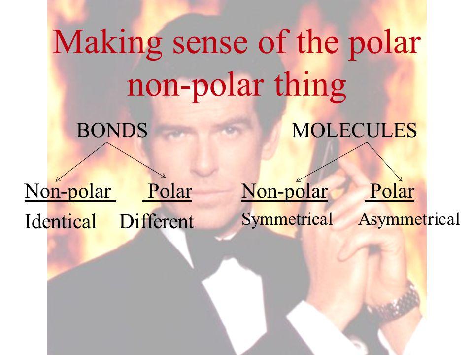 Making sense of the polar non-polar thing