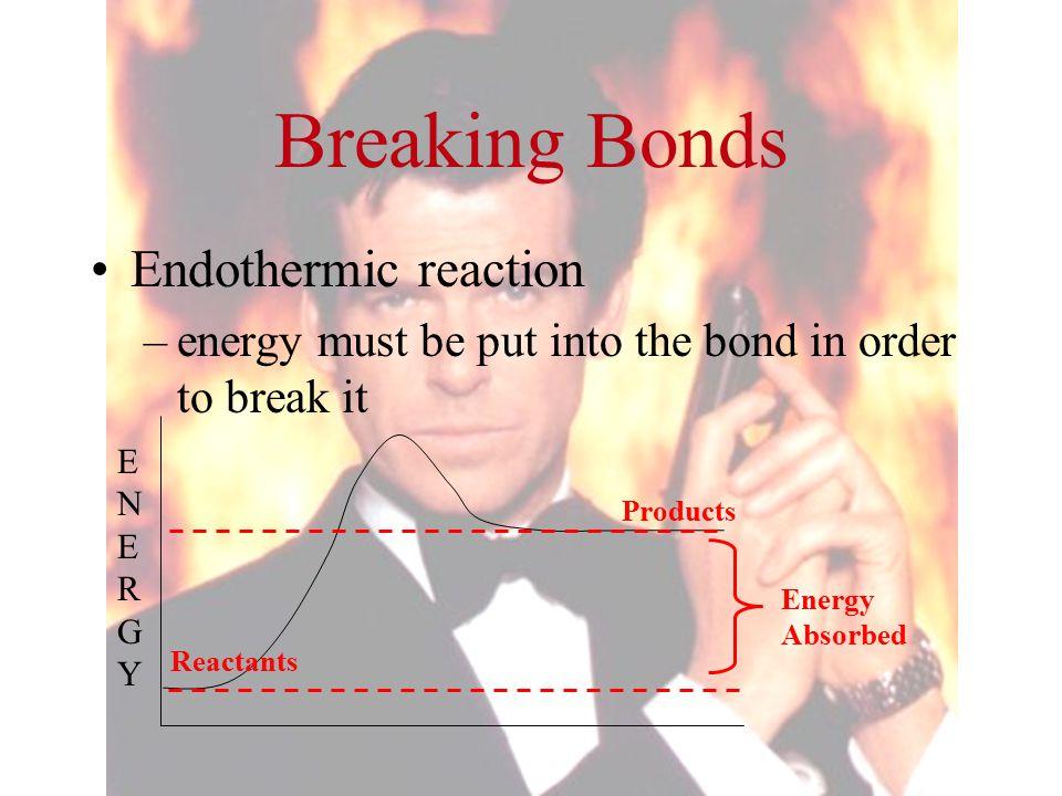 Breaking Bonds Endothermic reaction