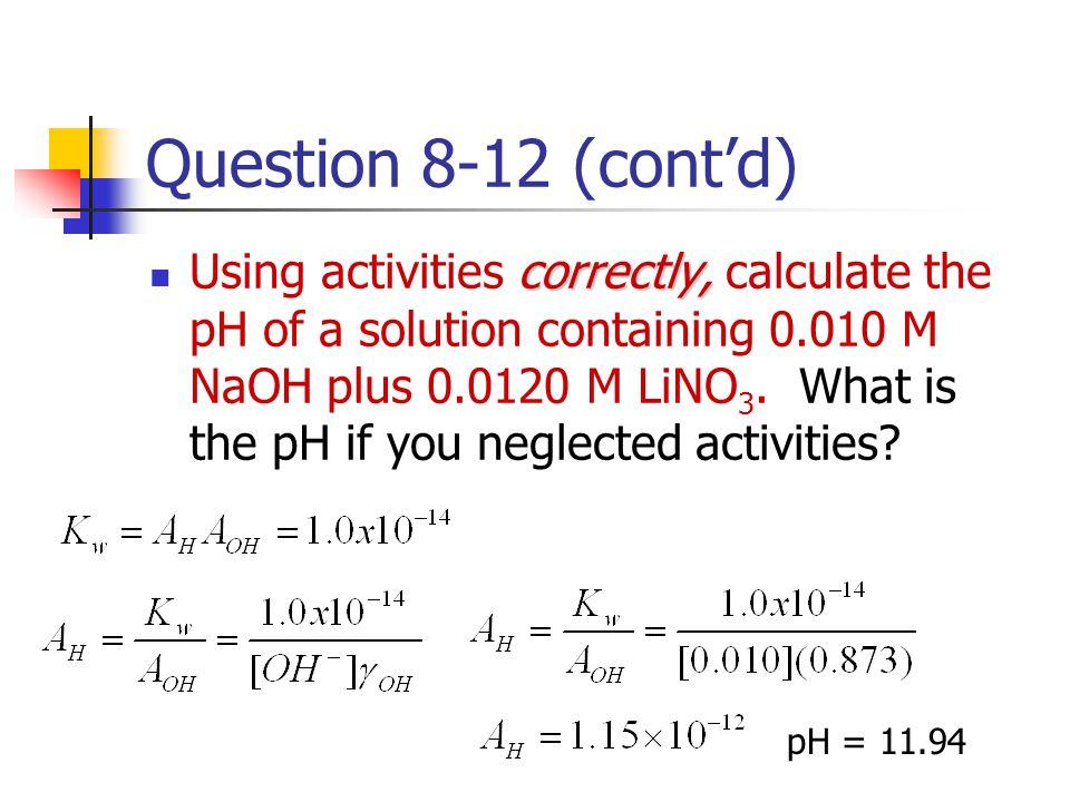 Question 8-12 (cont'd)