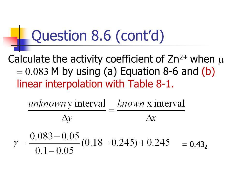 Question 8.6 (cont'd)