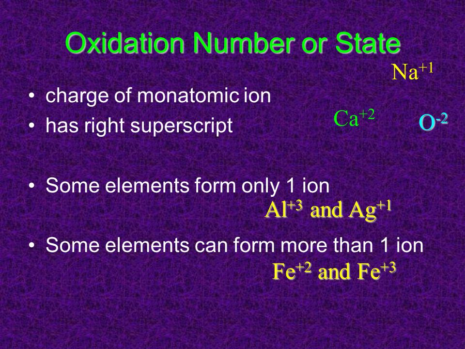 Oxidation Number or State