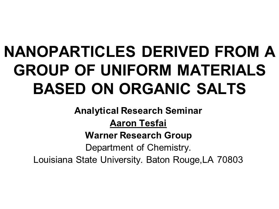 Analytical Research Seminar