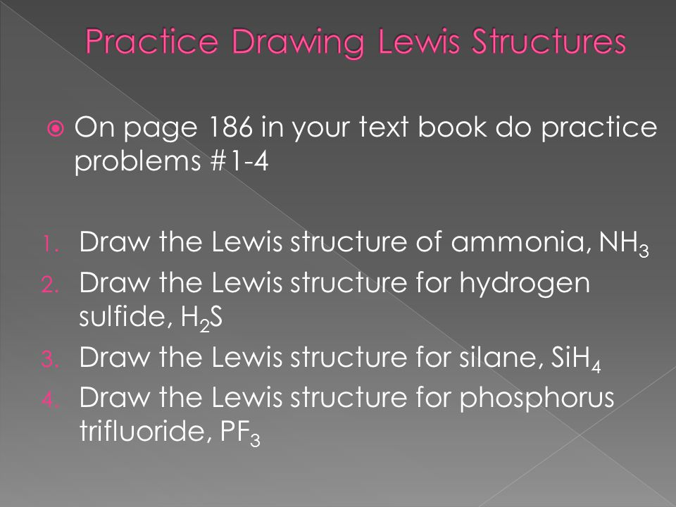 Practice Drawing Lewis Structures