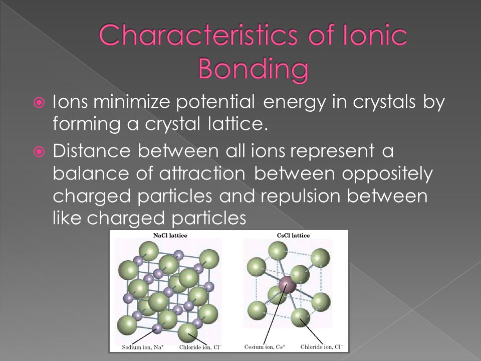 Characteristics of Ionic Bonding