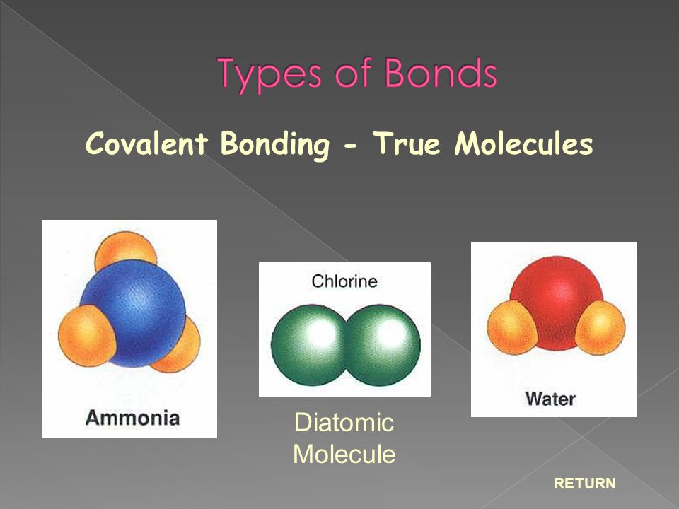 Covalent Bonding - True Molecules