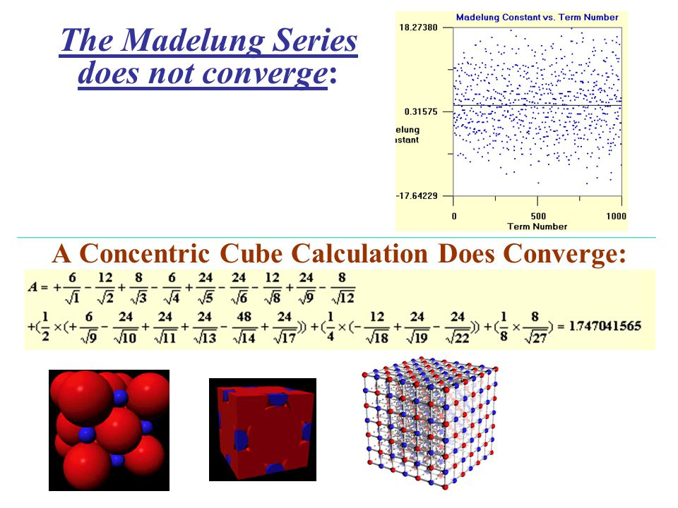 A Concentric Cube Calculation Does Converge: