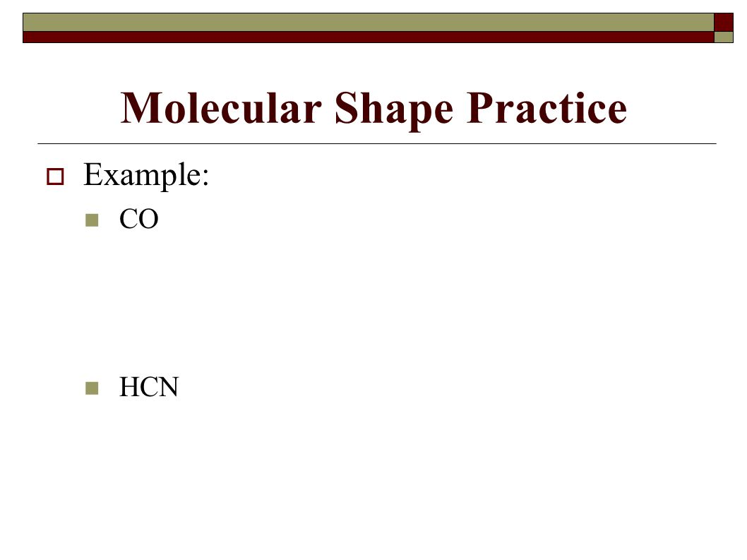 Molecular Shape Practice