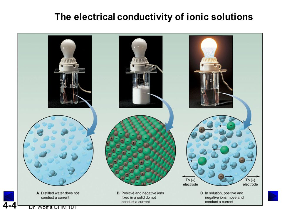 The electrical conductivity of ionic solutions