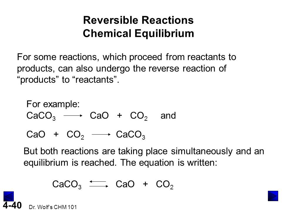 Reversible Reactions Chemical Equilibrium
