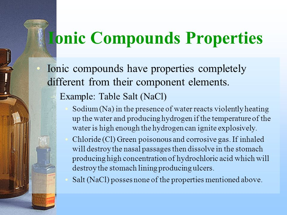 Ionic Compounds Properties