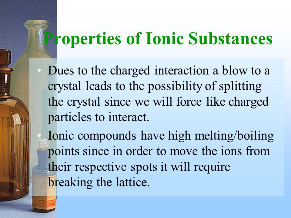 Properties of Ionic Substances