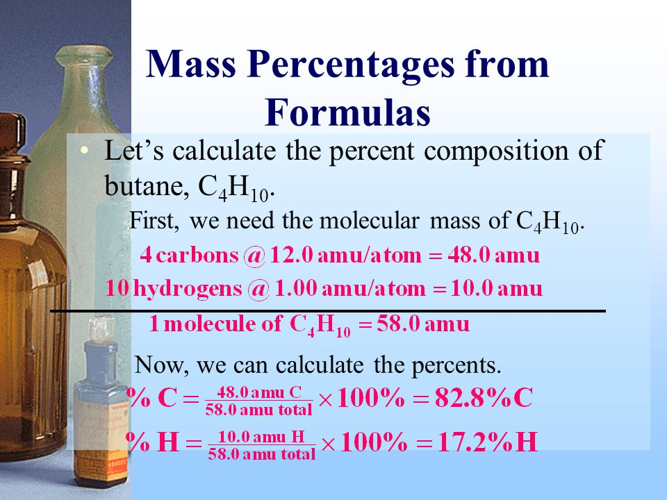 Mass Percentages from Formulas