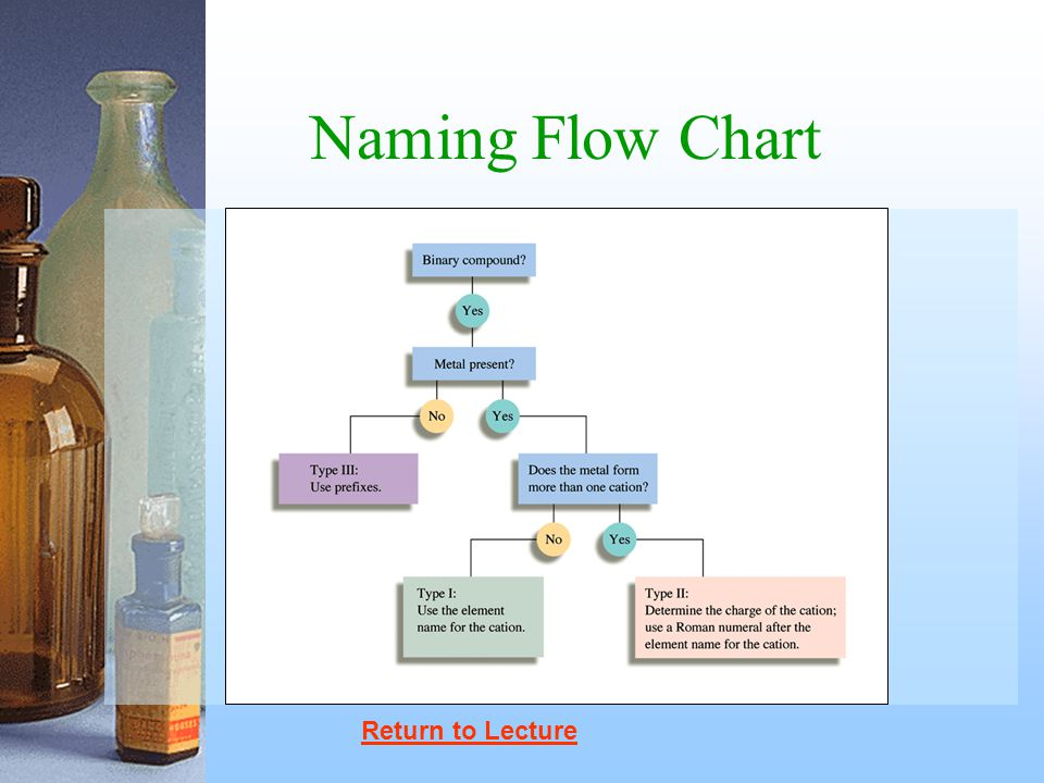 Naming Flow Chart Return to Lecture