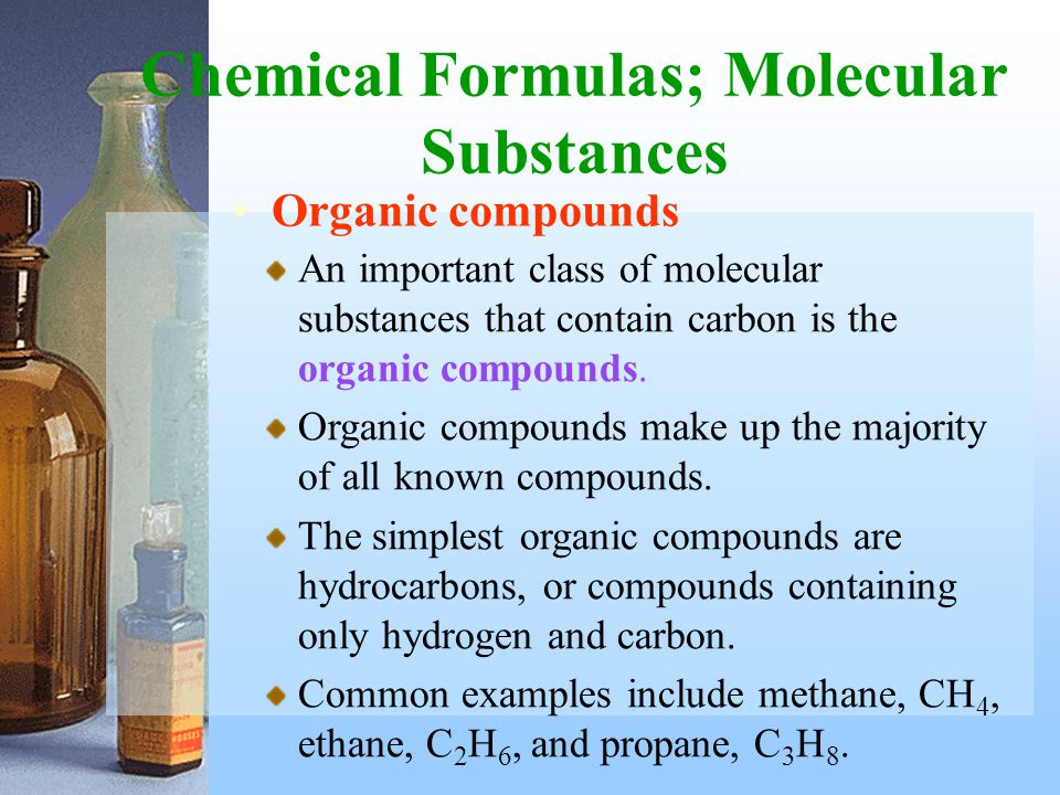 Chemical Formulas; Molecular Substances
