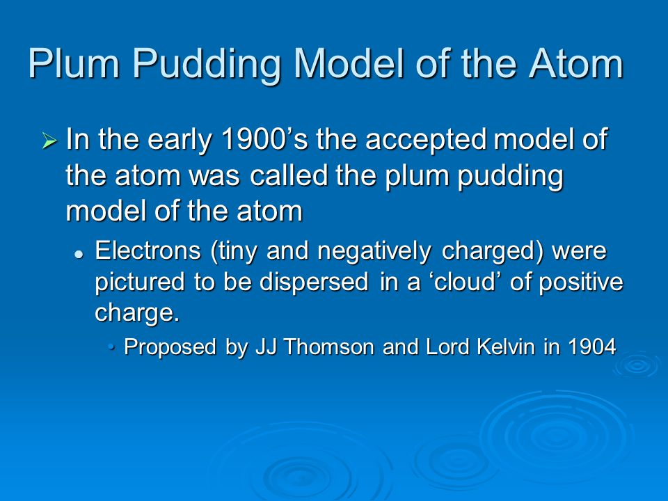 Plum Pudding Model of the Atom