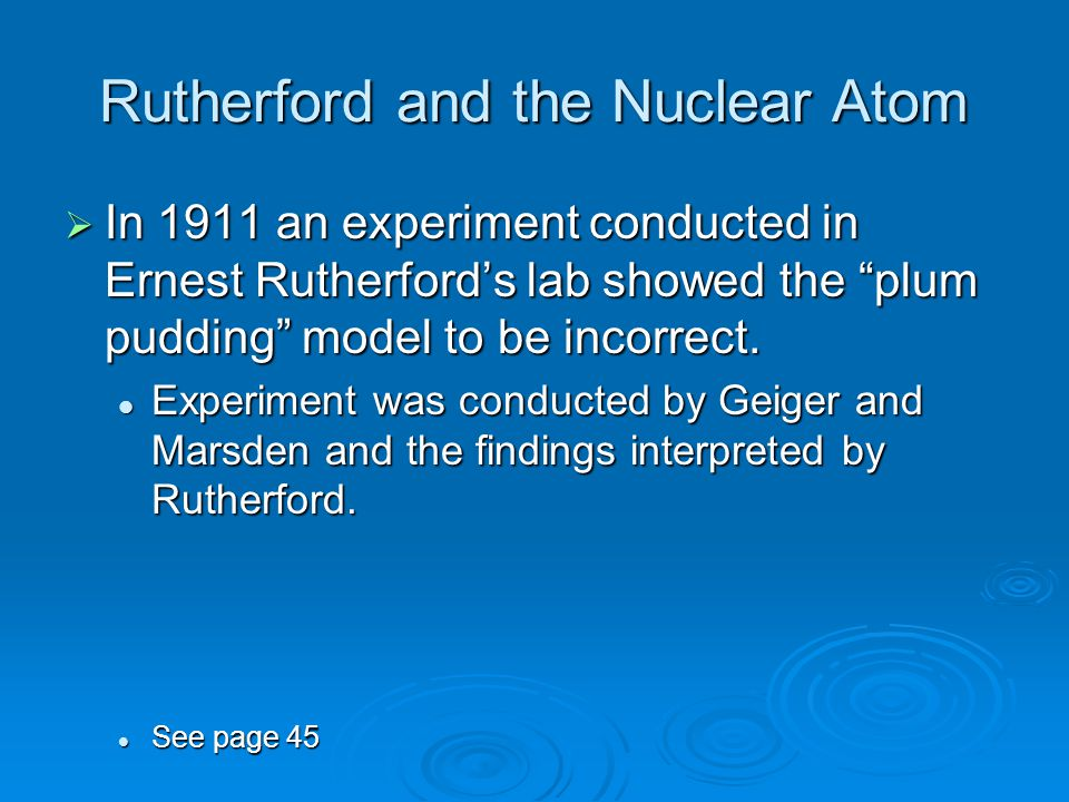 Rutherford and the Nuclear Atom