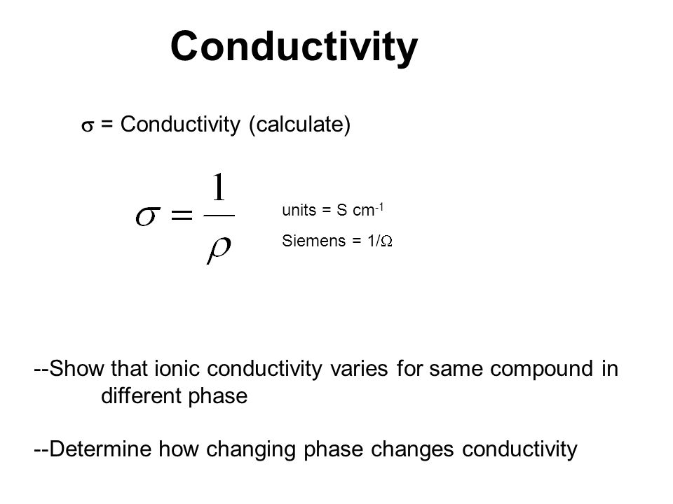 Conductivity  = Conductivity (calculate)