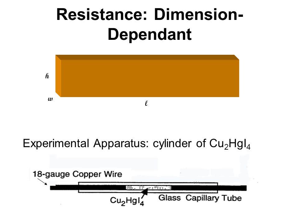 Resistance: Dimension-Dependant