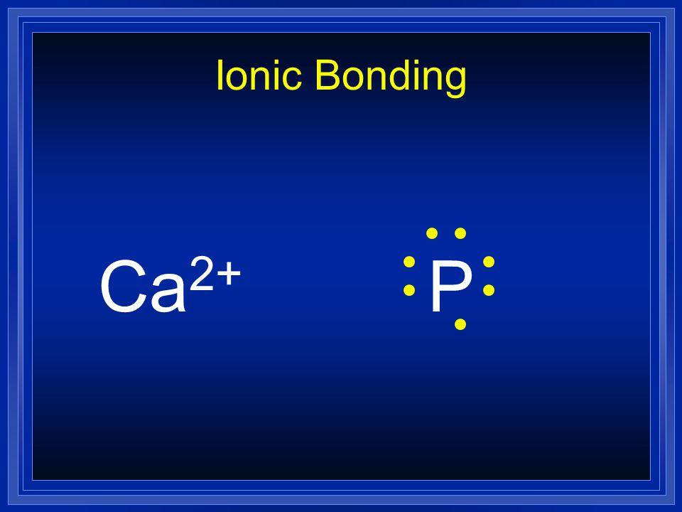 Ionic Bonding Ca2+ P