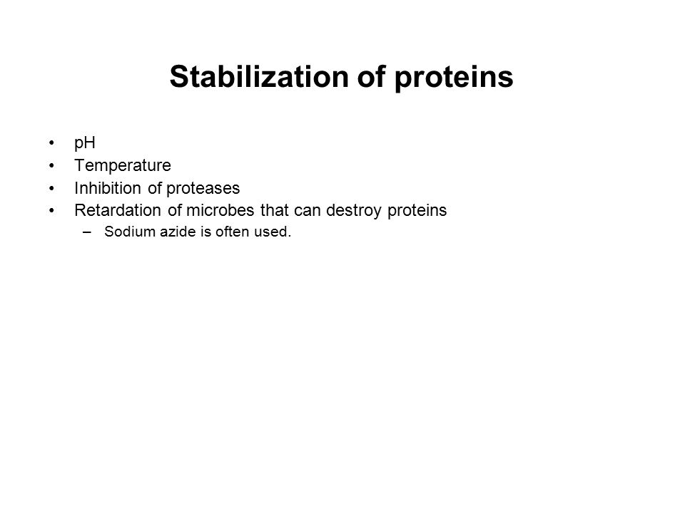 Stabilization of proteins