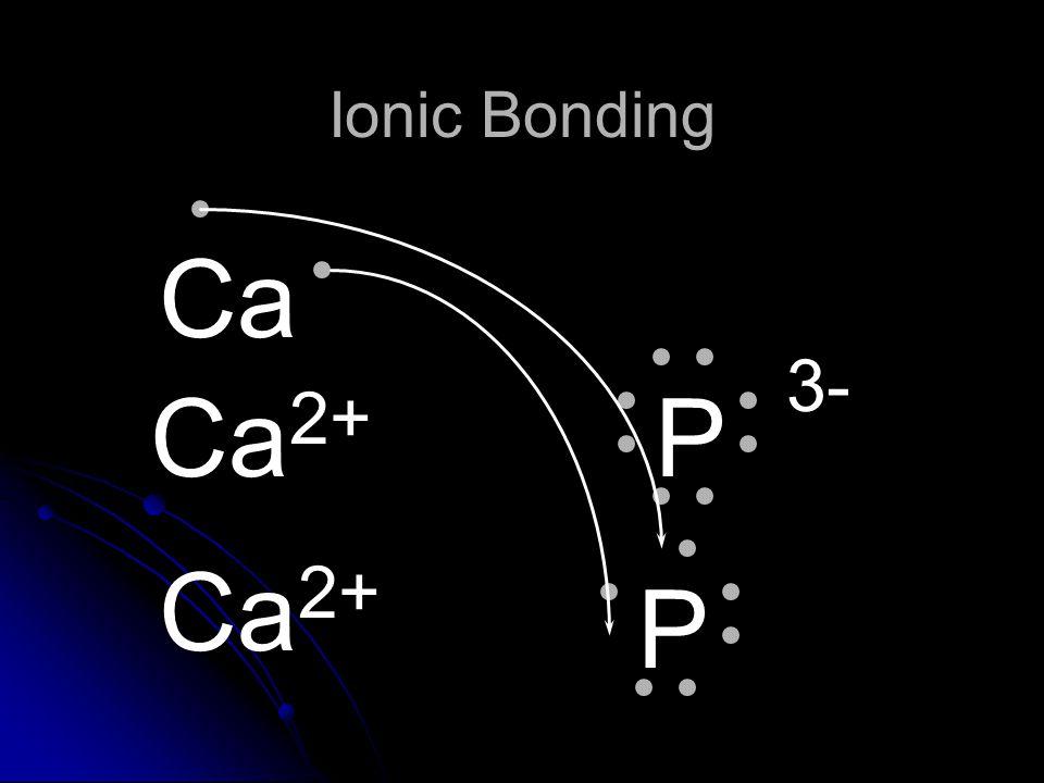 Ionic Bonding Ca Ca2+ P 3- Ca2+ P