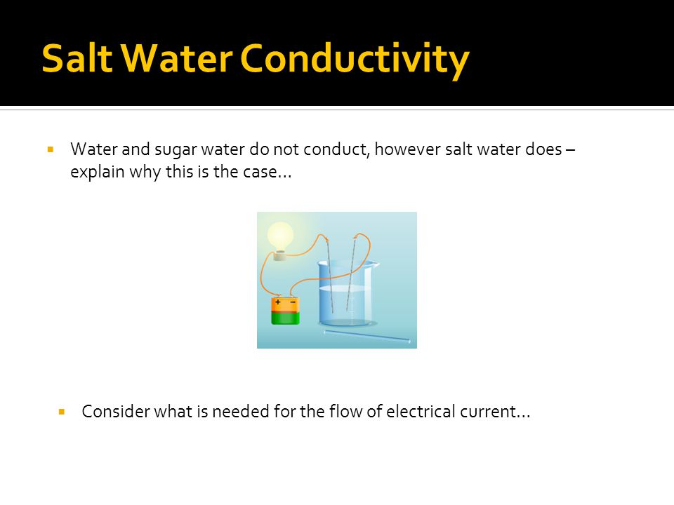 Salt Water Conductor : Ionic compounds noadswood science ppt video online download
