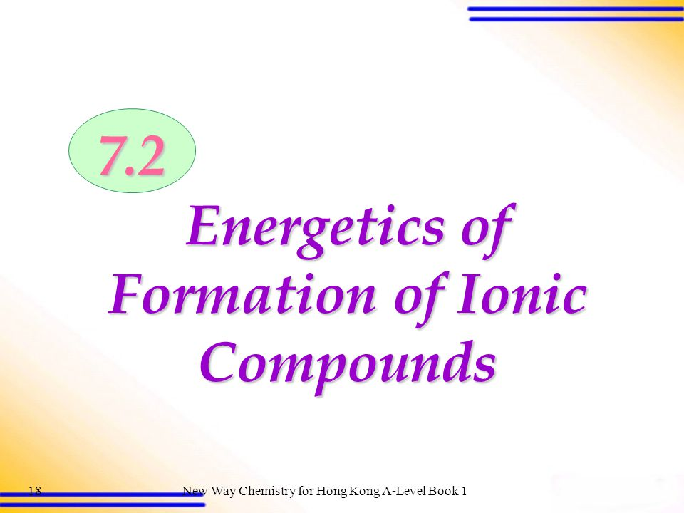 Energetics of Formation of Ionic Compounds