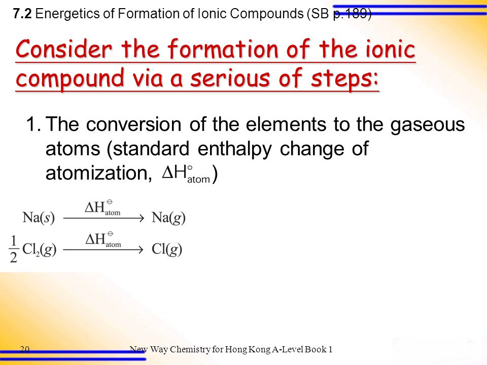 Consider the formation of the ionic compound via a serious of steps:
