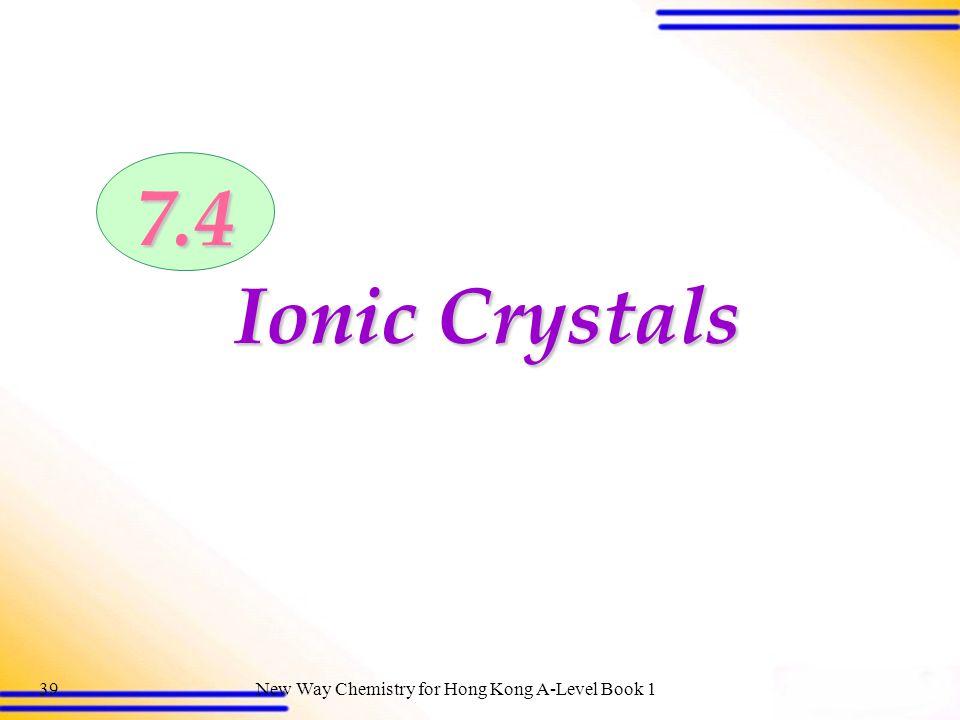 7.4 Ionic Crystals