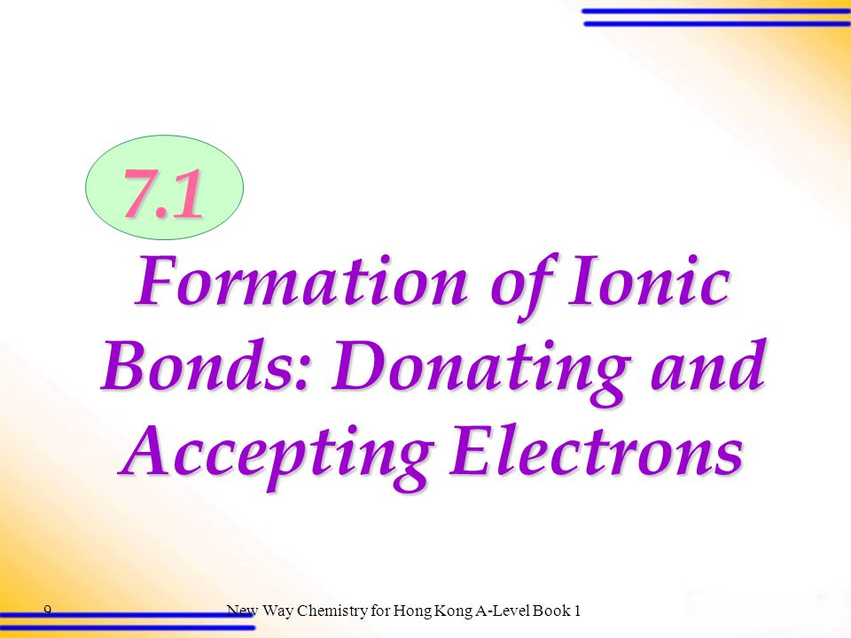 Formation of Ionic Bonds: Donating and Accepting Electrons