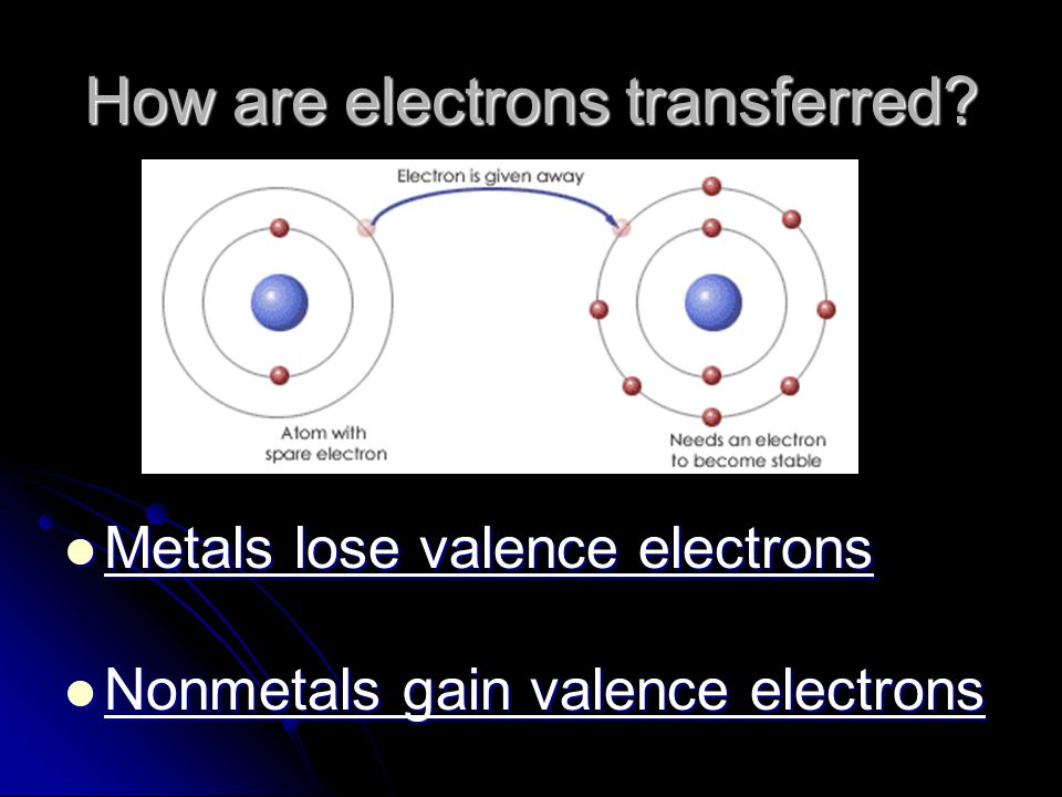 How are electrons transferred
