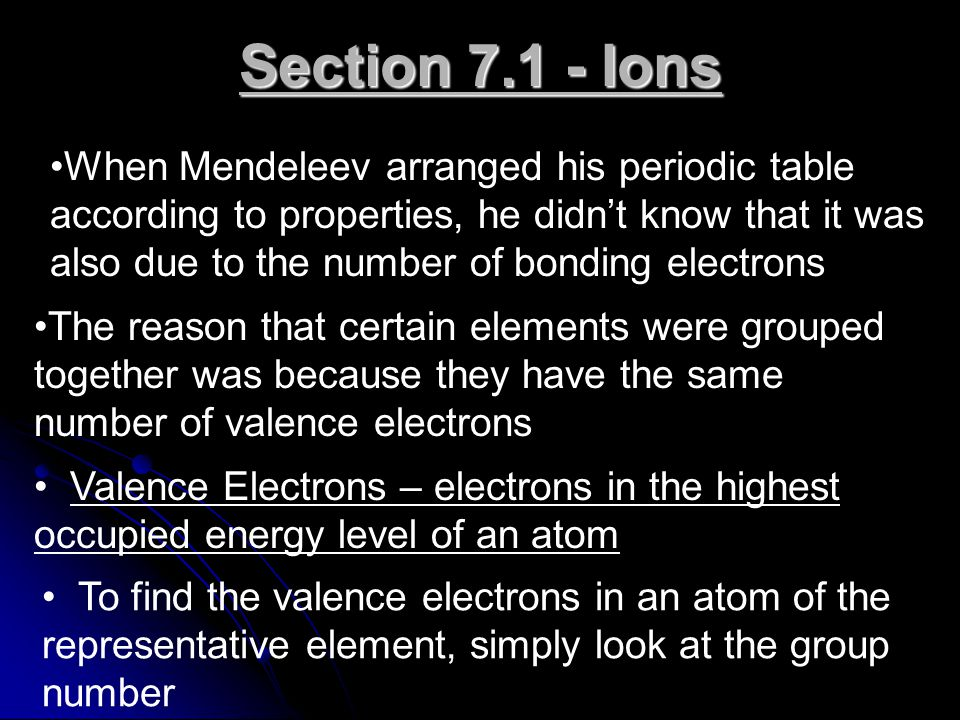 Section Ions