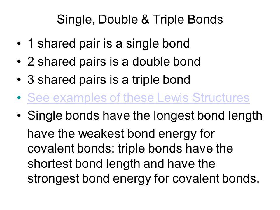 Single, Double & Triple Bonds
