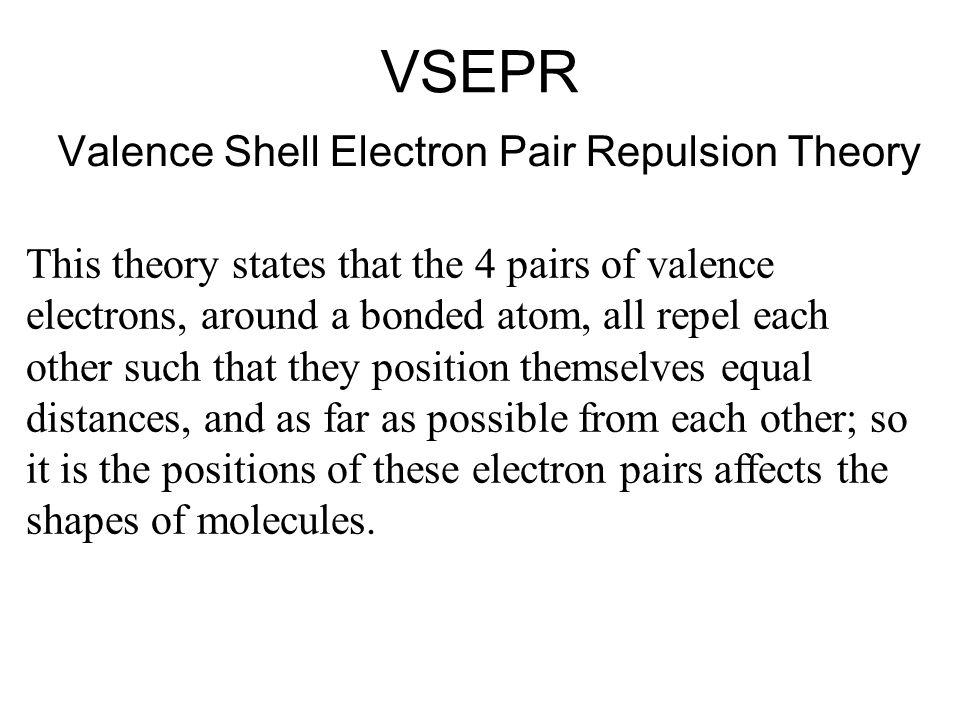 VSEPR Valence Shell Electron Pair Repulsion Theory