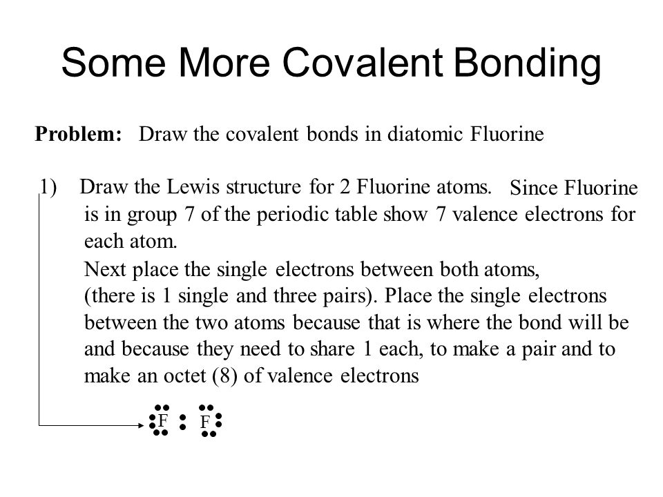 Some More Covalent Bonding