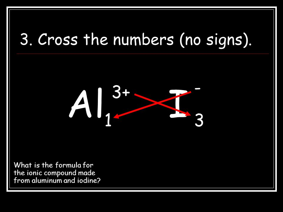 3. Cross the numbers (no signs).