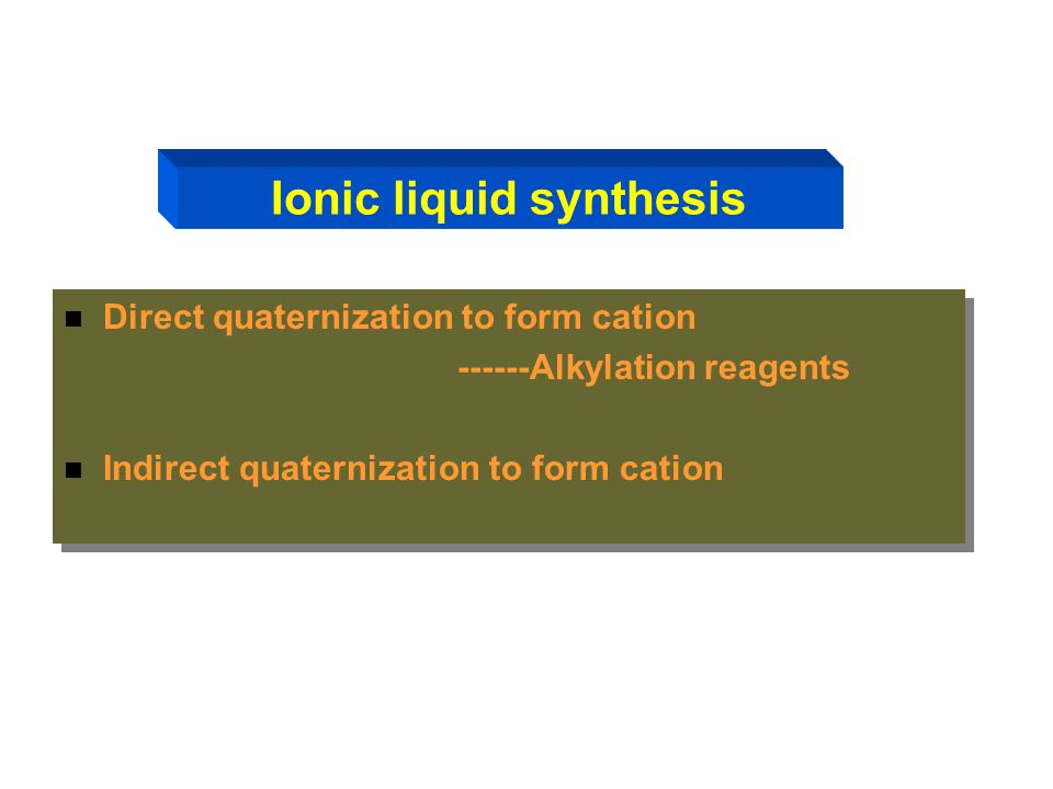 Ionic liquid synthesis