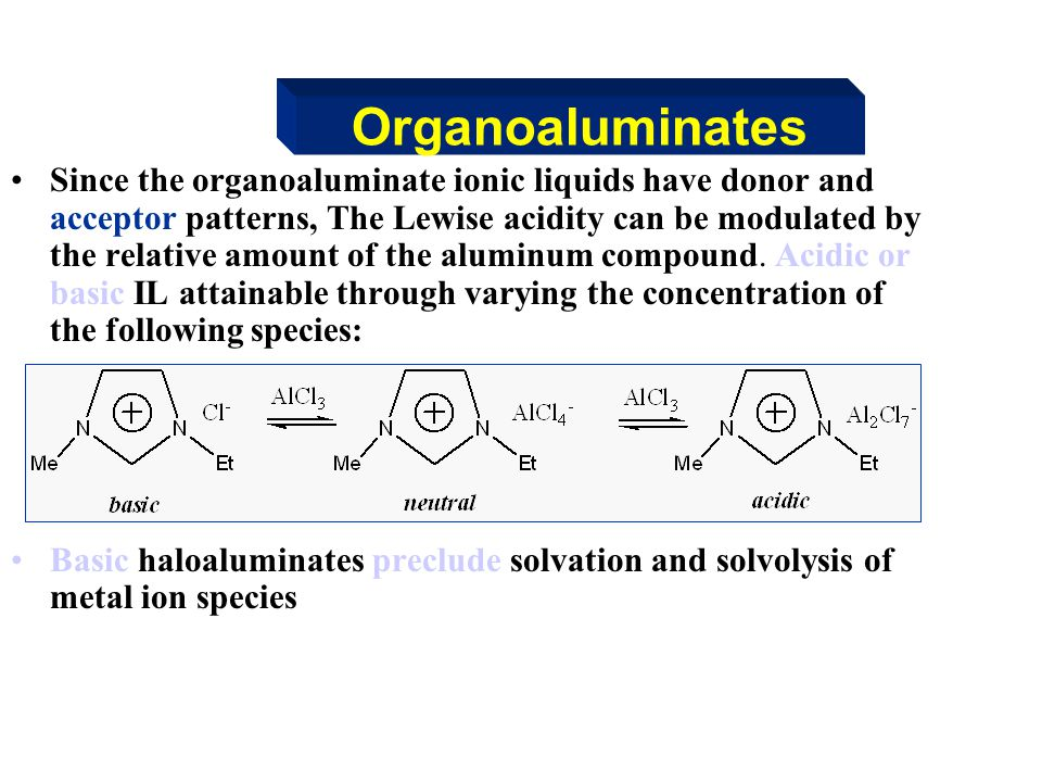 Organoaluminates