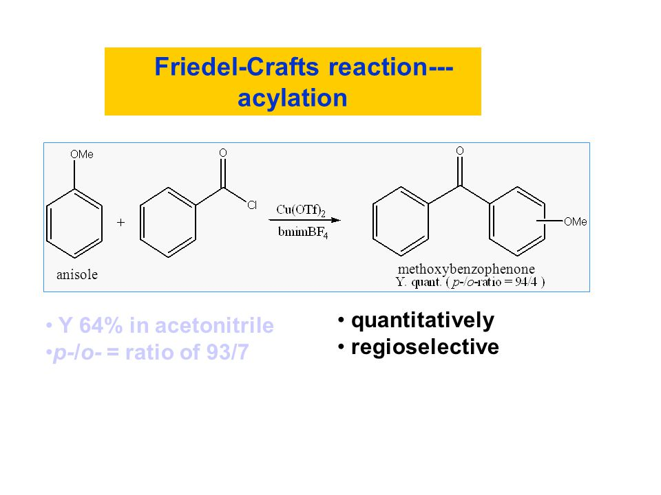 Friedel-Crafts reaction---acylation