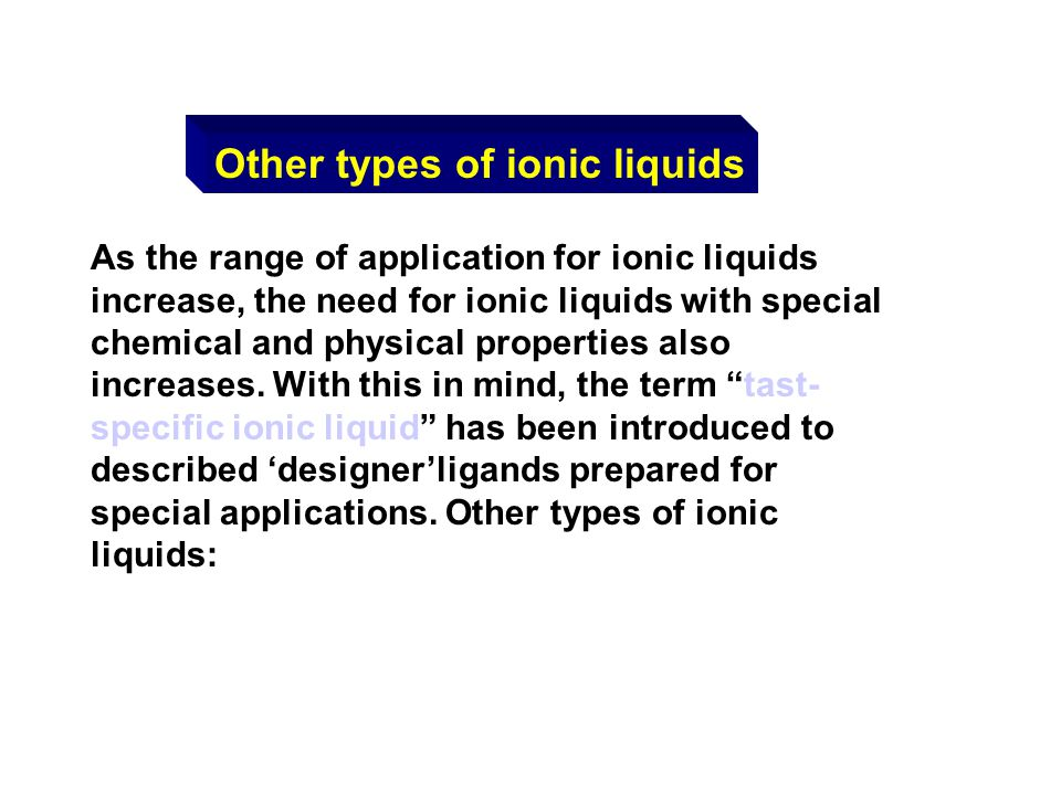 Other types of ionic liquids